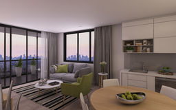 Modern Living Room in Privat House Royalty Free Stock Image