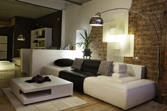 Modern living room sofa couch design interior Stock Images