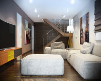 Modern living room with sofa. Hight resolution Royalty Free Stock Image