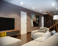 Modern living room with sofa. Hight resolution Stock Image