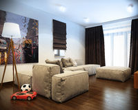 Modern living room with sofa Royalty Free Stock Photography