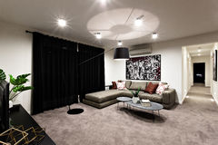 Modern living room with space and hallway Royalty Free Stock Photo