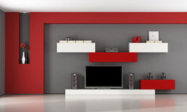 Modern living room with TV set Stock Photography