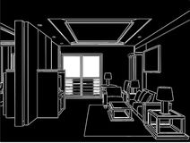 Modern Living Room Vector 04 Stock Photos