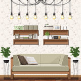 Modern living room vector Royalty Free Stock Photo