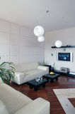 Modern Living Room Vertical. Partial view of a modern living room, taken vertically royalty free stock photos