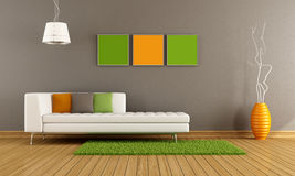 Colorful modern living room Royalty Free Stock Images