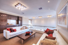 Modern living room with white sofa Royalty Free Stock Image