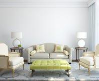 Modern living-roominterior. Fotografering för Bildbyråer