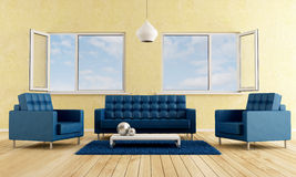 Modern livingroom Royalty Free Stock Images