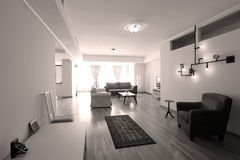 modern livingroom Arkivbild