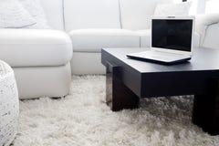 Modern livingroom computing Royalty Free Stock Image