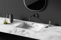 Modern ljus badruminre close upp spegel vektor illustrationer