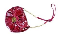 Modern ljus handväska för kvinna` som s isoleras på vit royaltyfri fotografi