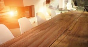 Modern ljus rumlägenhet Förhandlingrum i modernt kontor grönt kontor whit för tabell för sofas för stolshotelllobby Arkivbilder