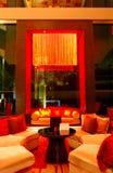 Modern lobby interior in night illumination Stock Photo