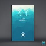 Modern Lock Screen for Mobile Apps. Mobile Wallpaper. Vector Illustration Stock Photo