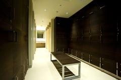 Modern locker room. Interior of a modern sports locker room Royalty Free Stock Photos