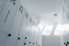 Modern locker room. Abstract looking picture of modern locker room stock image