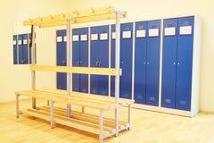Modern locker rooms. Interior is modern locker rooms Royalty Free Stock Photography