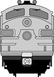 Modern locomotive Royalty Free Stock Image