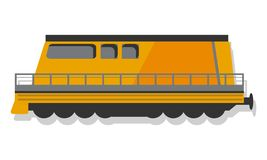 Modern locomotive icon, cartoon style stock illustration