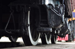 Modern locomotive wheels Stock Image
