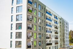 Modern lodging in Cluj-Napoca. Picture of new modern apartments building in Cluj-Napoca, residential area Royalty Free Stock Photo