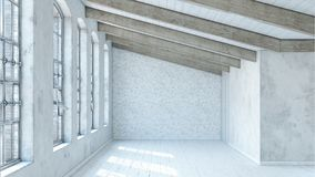 modern loft Arkivbild