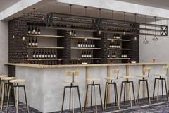 Modern loft bar interior Royalty Free Stock Images