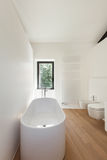 Modern loft, bathroom Stock Image
