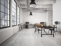 Modern loft. 3d rendering Stock Photography