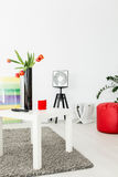 Modern loft inhabited by art lovers Royalty Free Stock Images