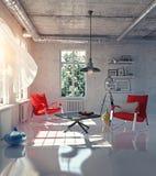 Modern loft interior Stock Photos