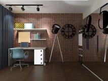 Modern loft interior Stock Image