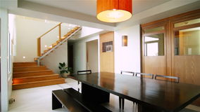Modern Loft Interior Design stock video footage