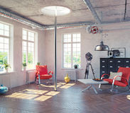 The modern loft interior Royalty Free Stock Image
