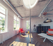 Modern loft interior Stock Photography