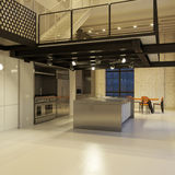 Modern loft kitchen at night Royalty Free Stock Photos