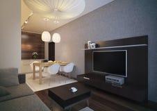 Modern loft Living room interior. royalty free stock photo