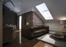Modern loft Living room interior Royalty Free Stock Images
