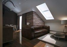 Modern loft Living room interior. Hight resolution Royalty Free Stock Images