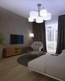 Modern loft Living room interior Royalty Free Stock Image