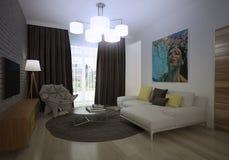 Modern loft Living room interior Stock Photo
