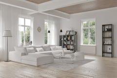 Modern loft living room interior Royalty Free Stock Photos