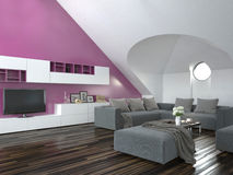 Modern loft living room interior Royalty Free Stock Photo