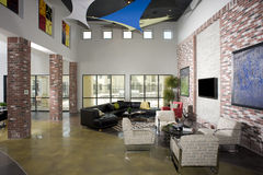 Modern Loft Living Room. Seating ares in a modern loft environment Stock Images