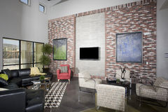 Modern Loft Living Room Stock Images