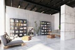 Modern loft lving room. Royalty Free Illustration