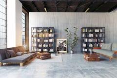 Modern loft lving room. Stock Illustration